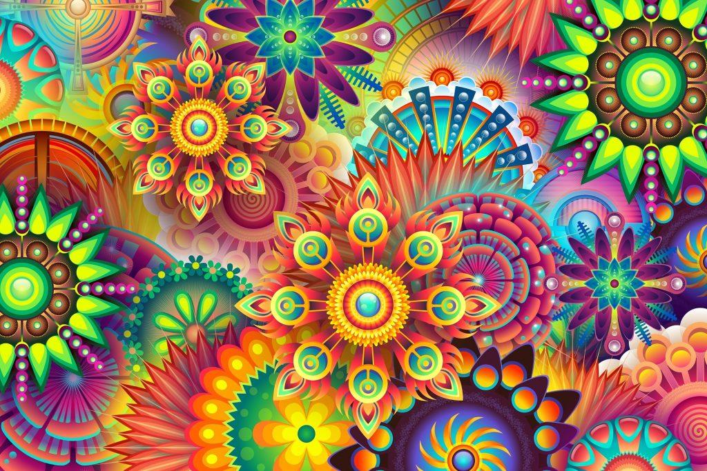 disegno colorato psichedelico