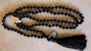 rosario indiano in onice nero