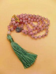 rosario indiano in quarzo rosa